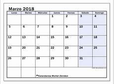 Calendarios marzo 2018 LD Michel Zbinden ES