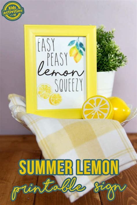 summer lemon printable sign