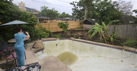 raw video sinkhole destroyed winter park pool backyard
