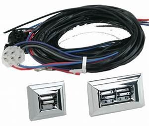 Flat Glass Power Window Kit For 2 Doors With Gm Style Chrome 3 Switch  U0026 Harness  Bob U0026 39 S Classic