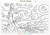 Starry Coloring Night Printable Gogh Van Worksheets Pages Vincent Adults Famous Yahoo Smart Sheets Worksheet Paintings Artist Pdf Popular Saferbrowser sketch template