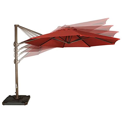 abba patio 11 ft aluminum offset cantilever umbrella