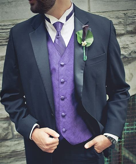 wedding tuxedo purple ideas  pinterest gray
