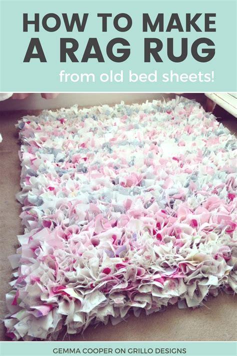 how to make a rug how to make a diy rag rug using bedding
