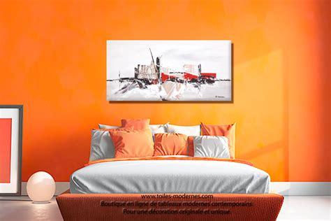 chambre couleur taupe et gris tableau ville contemporaine gris taupe grand format