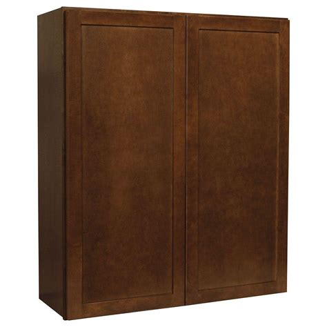 home depot cognac cabinets hton bay assembled 36x42x12 in shaker wall cabinet in