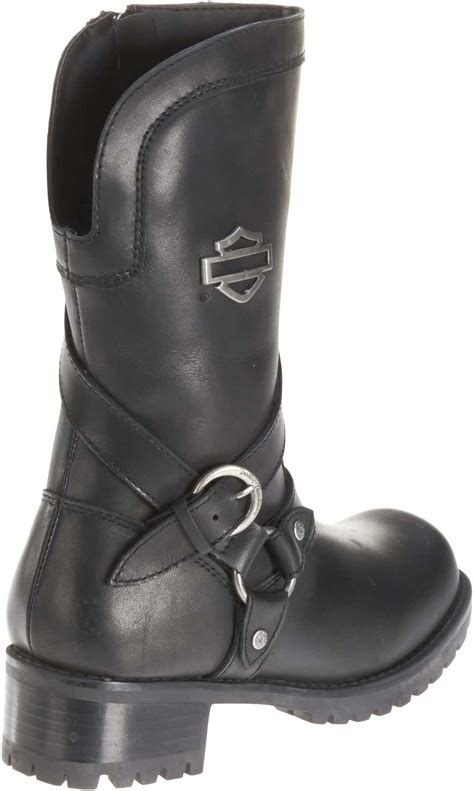 women s lightweight motorcycle boots harley davidson women 39 s amber black leather 9 5 inch