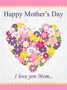 Flower Heart Happy Mother's Day Card   Birthday & Greeting ...