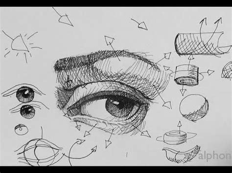 ink drawing tutorials   draw  realistic eye