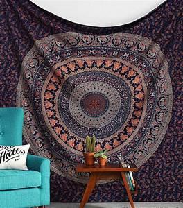 Tissus Decoration Murale : les 18 meilleures images du tableau tissu mural mandala sur pinterest mandalas tentures ~ Nature-et-papiers.com Idées de Décoration