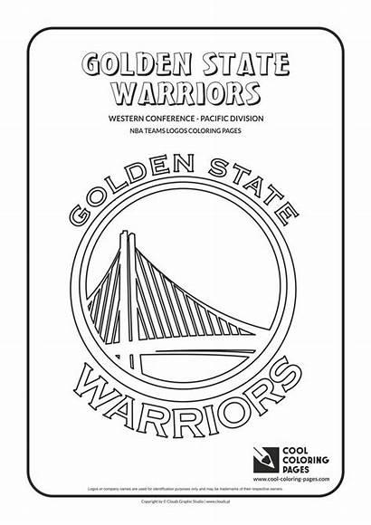 Nba Coloring Basketball Logos Warriors Teams Cool