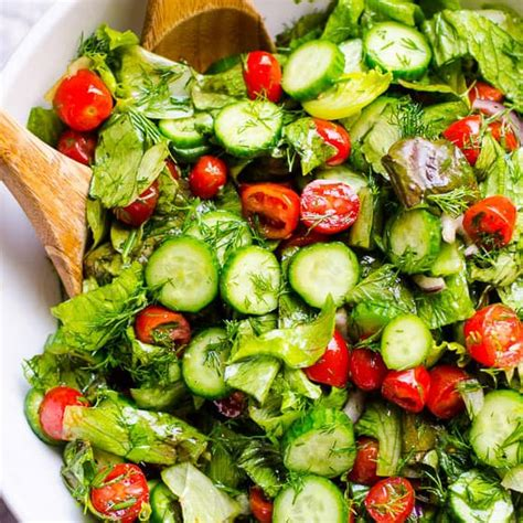 Ranch Dressing Houses Not Salads by Lettuce Salad With Tomato And Cucumber Ifoodreal
