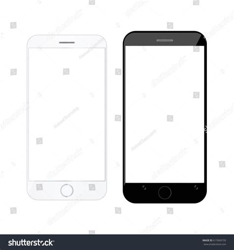 phone template realistic smartphone modern mobile phone blank stock vector 617669159