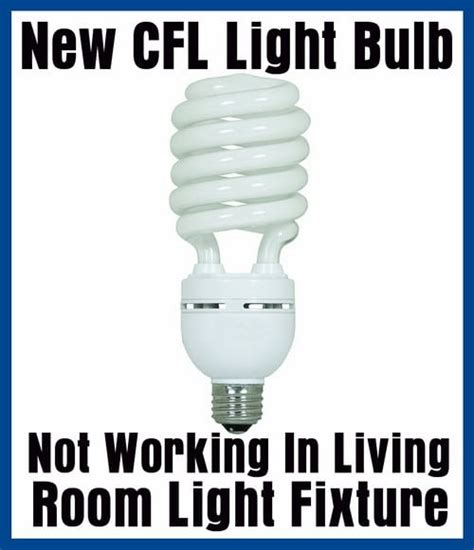 new cfl light bulb not working in light fixture dimmer