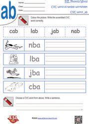 cvc word scramble worksheets scrambled cvc words