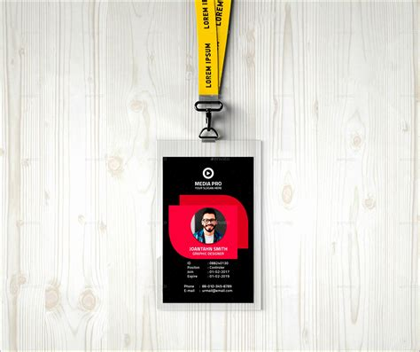 employees photo id badges template excel templates