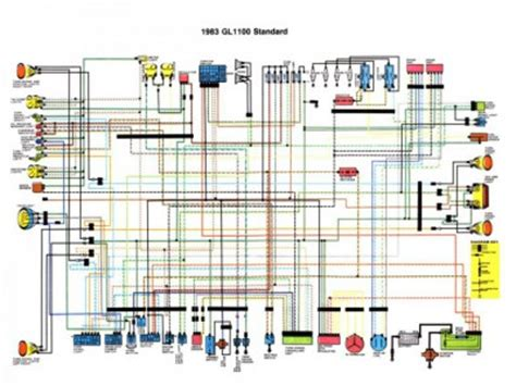 Honda Goldwing Wiring Diagram For 2012 by Gl1100 Standard 1983 Color Schematic Reference