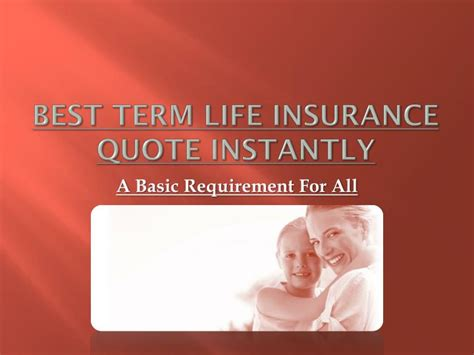 term insurance quotes ppt best term insurance quote instantly powerpoint