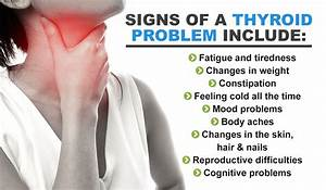 Signs That Indicate A Thyroid Problem  With Images
