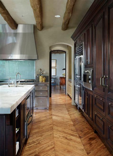 Chocolate Brown Cabinets  Cottage  Kitchen  De Giulio