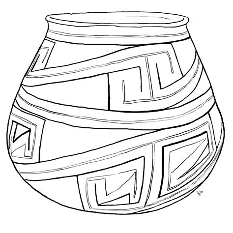 clay pottery coloring pages