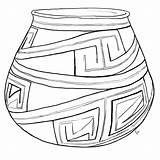 Clay Pottery Coloring Template Sketch sketch template
