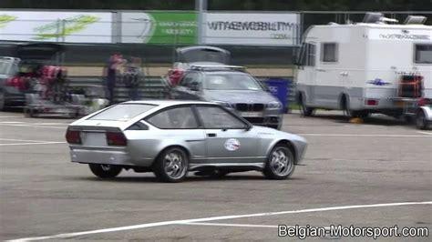 alfa romeo gtv loud flame spitting racecar  zolder