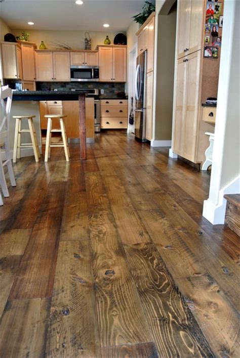 rustic kitchen floor ideas 20 stunning rustic wood flooring for many kinds of home 4996