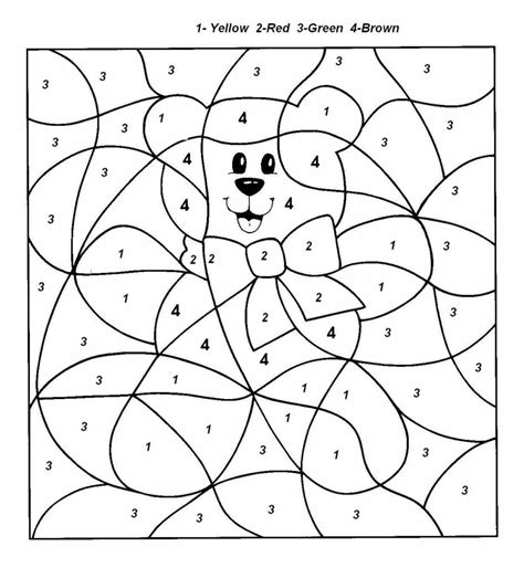 coloring worksheets with numbers easy color by number for preschool and kindergarten