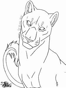 Lioness Lineart by TheSiubhan on DeviantArt