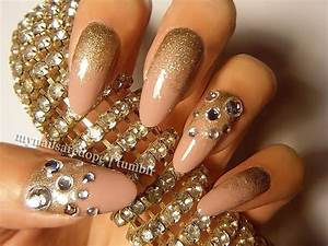 Gold nail designs images white and design art