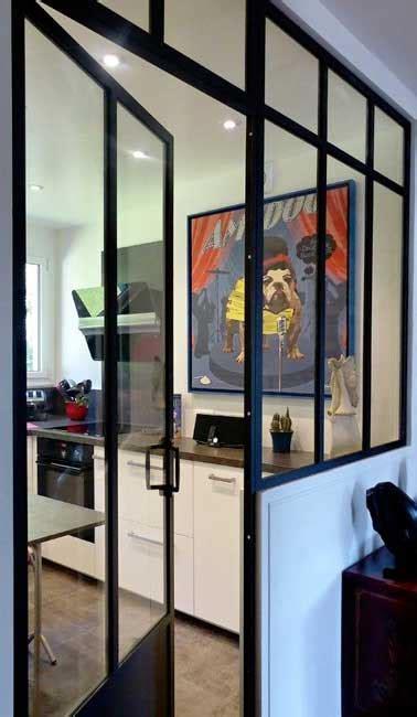 verriere interieure cuisine verrière intérieure avec porte battante dans cuisine
