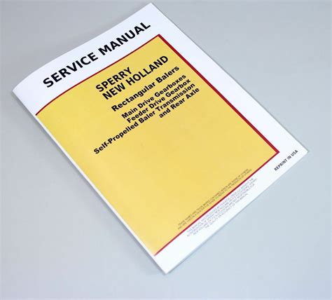 sperry  holland square baler service manual