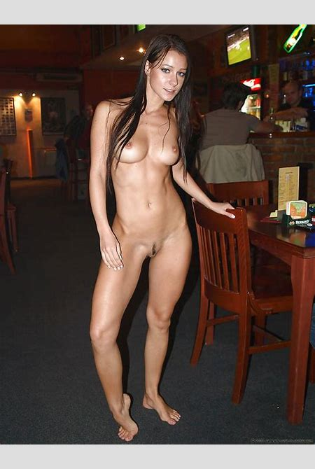 self-pics.com - Nude in a bar