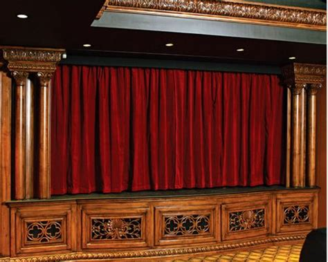 draper starts the with motorized theater curtains
