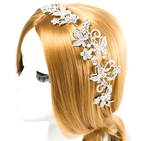 hair ornaments cz diamond tiaras and crowns bridal hair ornaments for