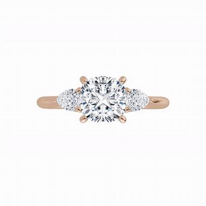 Pear Ring Stone Shaped Side Three Engagement