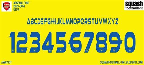 Arsenal 2014-2015 Font Number