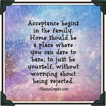 Acceptance Being Rejected Begins Should Yourself Quotes