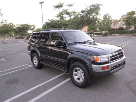 car engine manuals 1997 toyota 4runner seat position control sell used 1997 toyota 4 runner limited 2wd v6 automatic black on tan belt done in san