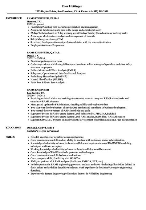 rams engineer resume sles velvet
