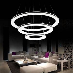 Modern galaxy acrylic chandelier rings pendant led light