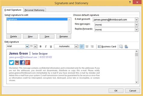 create  html iphone email signature exclaimer