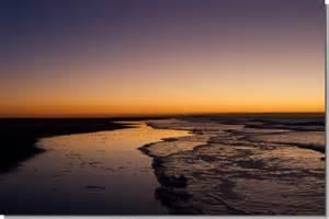 Orange and Purple Beach Sunset