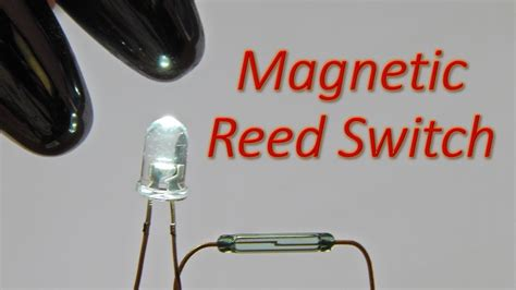 magnetic switch for led lighting simple reed switch magnetic switch circuit to glow a