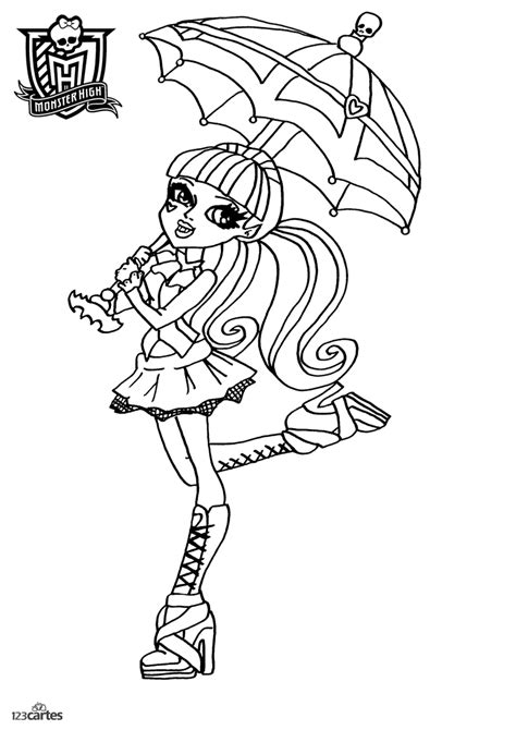 16 Coloriages Monster High  123 Cartes