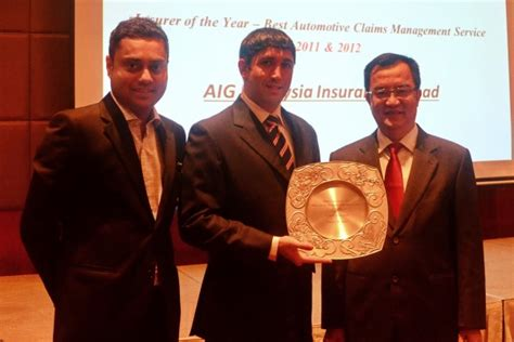 aig malaysia awarded  efficient insurer title