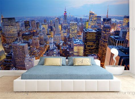 wall murals cities canvas prints posters new york panoramic view 1824en