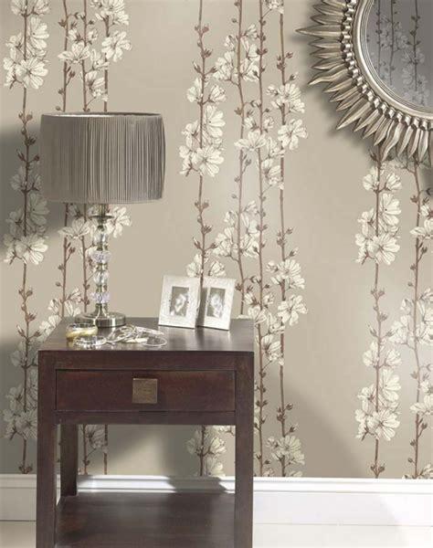 wohnzimmer tapeten ideen florale und barock muster