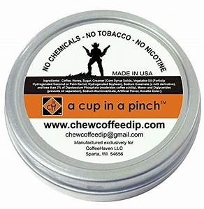 Cowboy Coffee Chew (Pack of 2) Quit Chewing Tin Can Non ...